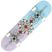 Flash Purple/Blue 8inch Complete Skateboard