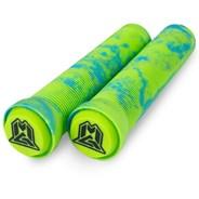 MGP Swirls Grind Handlebar Grips With Bar Ends - Blue/Green
