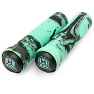 MGP Swirls Grind Handlebar Grips With Bar Ends - Teal/Black