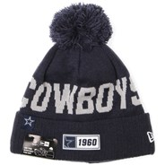 NFL Sideline Bobble Knit 2019 Road Game Beanie - Dallas Cowboys