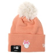 Disney Womens Cuff Knit Bobble Beanie - Minnie Mouse