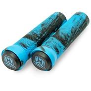 MGP Swirls Grind Handlebar Grips With Bar Ends - Blue/Black