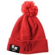 Womens League Essential Bobble Knit Beanie - New York Yankees
