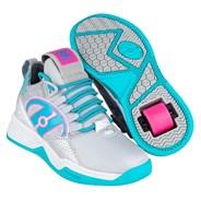 Bandit Grey/Aqua/Hot Pink Kids Heely Shoe