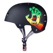 Santa Cruz Rasta Screaming Hand Matt Black Skate/BMX Helmet
