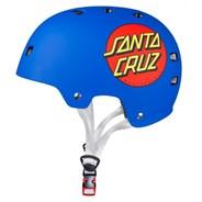 Santa Cruz Classic Dot Matt Blue Skate/BMX Helmet