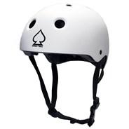 Prime Certified White Skate/BMX Helmet