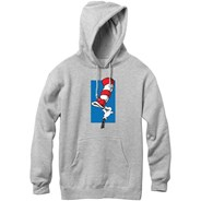 Dr Seuss Cat Trick Pullover Hoody - Heather Grey