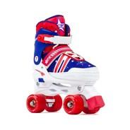 Spectra Blue/Red Adjustable Kids Quad Roller Skates