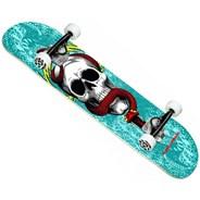 Skull & Snake One Off #291 7.75inch Complete Skateboard - Turquoise