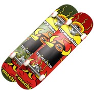 Chopped Up 8 inch Complete Skateboard - Green or Red