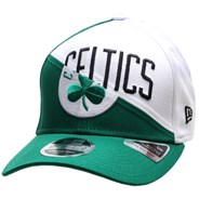 NBA Team Split Stretch Snapback Cap - Boston Celtics