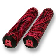 MGP Swirls Grind 180mm Handlebar Grips With Bar Ends - Red/Black
