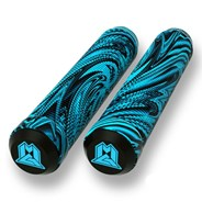 MGP Swirls Grind 180mm Handlebar Grips With Bar Ends - Blue/Black