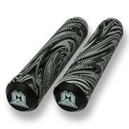 MGP Swirls Grind 180mm Handlebar Grips With Bar Ends - Grey/Black