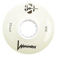 Luminous 62mm 85a Roller Skate Wheel - White