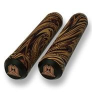 MGP Swirls Grind 180mm Handlebar Grips With Bar Ends - Brown/Black