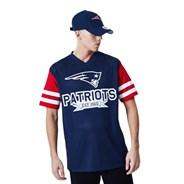 NFL Contrast Sleeve Oversized Tee - New England Patriots