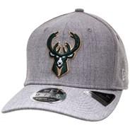 Heather Base 950 Stretch Snapback - Milwaukee Bucks