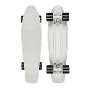 Complete 22inch Plastic Skateboard - White/Black LTD Edition