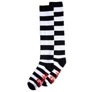 20'' Knee High Socks - Black/White