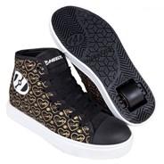 Veloz Black/Gold/Hearts Kids Heely Shoe