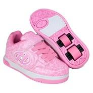 Plus Lighted Pink Patent/White Logo Kids Heely X2 Shoe