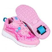 Nitro Light Pink/Pink Hearts Kids Heely Shoe