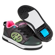 Voyager Black Reflective/Yellow/Pink Kids Heely Shoe