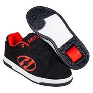Voyager Black/Red Nubuck Adult Heely Shoe