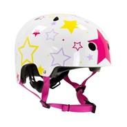 Adjustable Kids Helmet - White/Pink