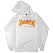 Flame Logo Hoody - White
