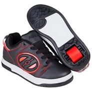 Voyager Black/Red Kids Heely Shoe
