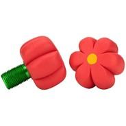 Brake Petals Toe Stops - Red Hibiscus