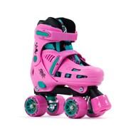 Storm IV Pink/Green Quad Roller Skates