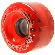 Gummy 58mm Red Quad Roller Skate Wheels