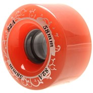 Gummy 58mm Rose Quad Roller Skate Wheels