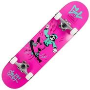 Skully Pink 7.75inch Complete Skateboard
