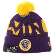NFL Sideline Bobble Knit 2020 Home Game Beanie - Minnesota Vikings