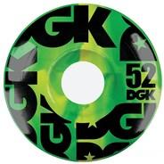 Swirl Formula Green Skateboard Wheels - 52mm