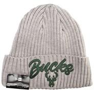 NBA 2020 Draft Knit Grey Beanie - Milwaukee Bucks