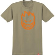 Bighead S/S T-Shirt - Sand/Orange