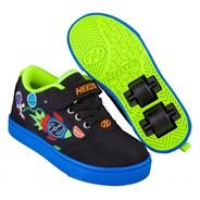 Pro 20 X2 Black/Blue/Olympic Yellow Space Kids Heely X2 Shoe