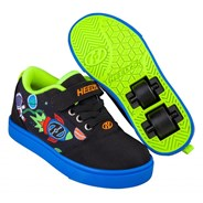 Pro 20 X2 Black/Blue/Olympic Yellow Space Kids Heely X2 Shoe