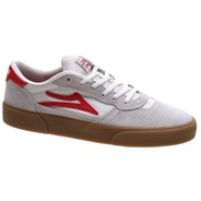 Cambridge White/Red Suede Shoe