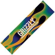Green Fire Stamp Skateboard Griptape