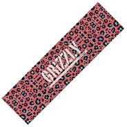 Pink Leopard Stamp Skateboard Griptape
