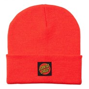 Classic Label Dot Beanie - Hot Coral