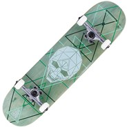 Geo Skull Green 8inch Complete Skateboard