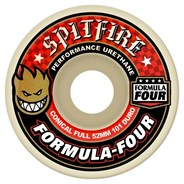 Formula Four Conical Full 101DU Natural 54MM Skateboard Wheels - Red